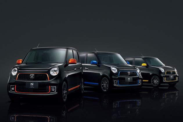 ホンダ「N-ONE」Premium Tourer特別仕様車 SSアーバンブラックパッケージ フロントスタイリング3台並び