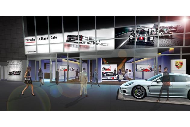 Porsche Le Mans Cafe featuring 919 Hybrid