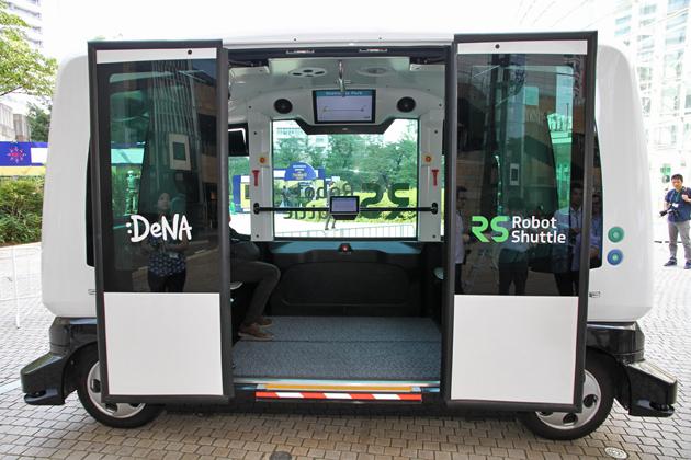 DeNA(ディー・エヌ・エー)オートモーティブ 新交通サービス「Robot Shuttle(ロボットシャトル)」発表会レポート[2016年7月7日木曜日/会場:六本木ヒルズ アリーナ他]