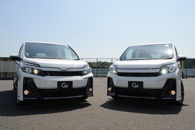 新型「ヴォクシー G's」/(右)新型「ノア G's」共にプロトタイプ