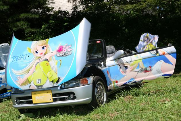 """自らの車なごキャラを""""痛車""""にするデザイナーも!「第11回 館林痛車ミーティング」"""