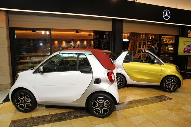smart(スマート)にオープンとターボモデル登場!/オープン1周年を迎えた羽田空港「Mercedes me」で初披露[発表会レポート]