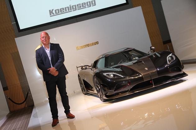 ケーニグセグ オートモーティブ CEOのクリスチャン・フォン・ケーニグセグ氏