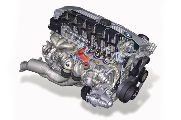 BMW 3.0L直6エンジン ツインターボ付き