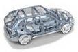 BMW X5のボディフレーム透視図