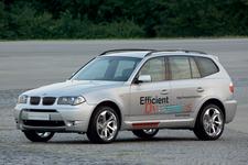 BMW X3ハイブリッドの試験車両
