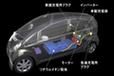 「i MiEV(アイ・ミーブ)」へのリチウムイオン電池搭載図