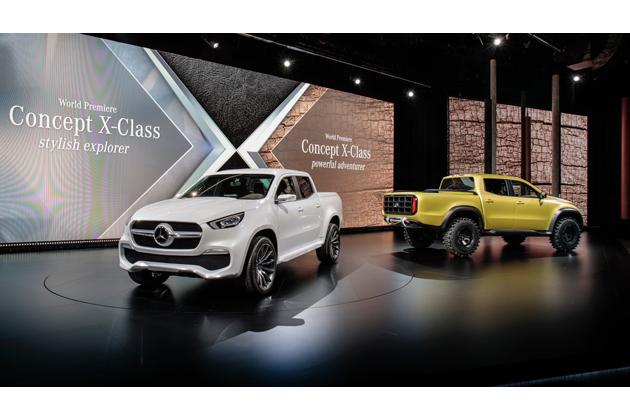 メルセデス・ベンツ初のピックアップトラック、コンセプト Xクラスが登場!