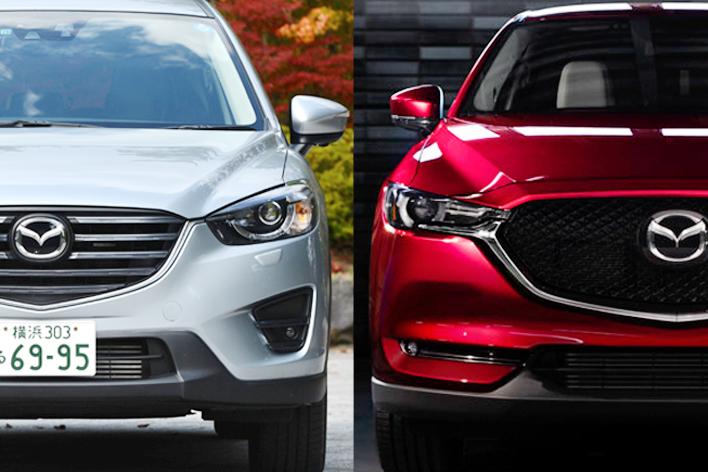 左:旧型(現行型)CX-5 右:新型CX-5