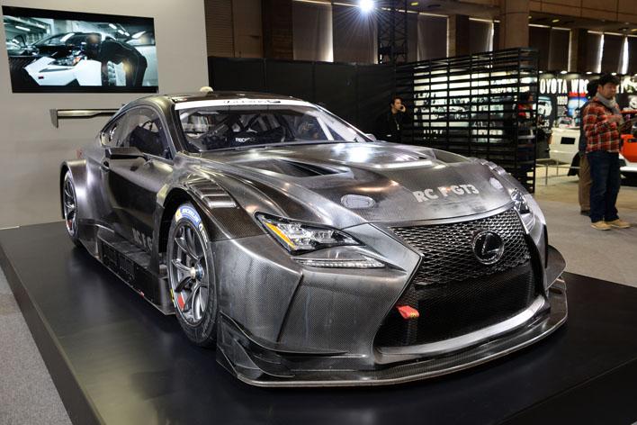 レクサスはRC FのGT3仕様とレクサスLCのGT500仕様、2台のレーシングカーがブースを彩る【TAS2017】