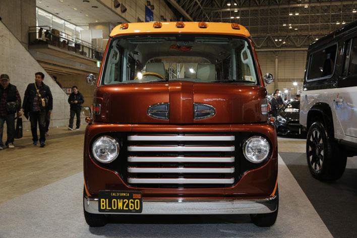 軽ワンボックスが1950年代のアメリカンなキャブオーバートラック風に大変身【TAS2017】
