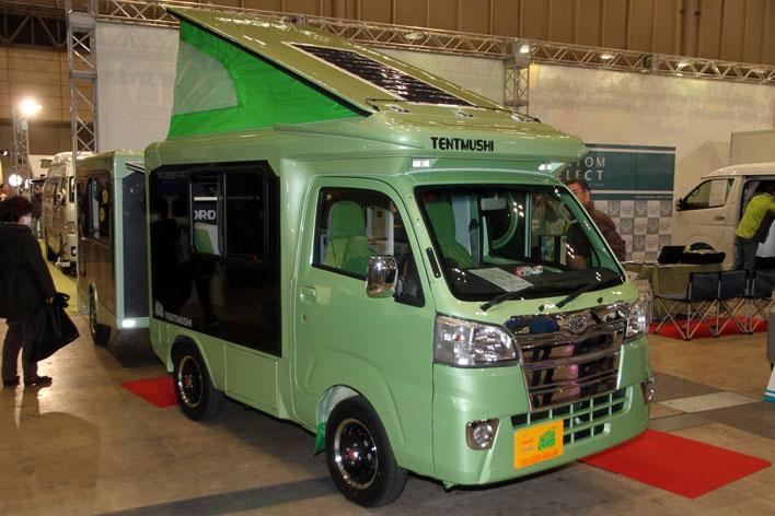 <新型「テントむし」&「コロ」(バンショップミカミ)>軽自動車ベースのキャンピングカー「軽キャン」