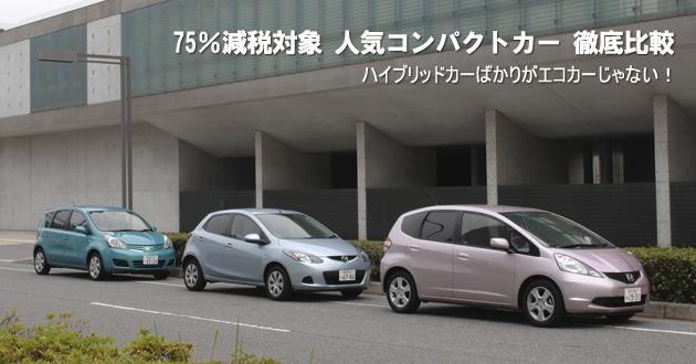 75%減税対象 人気コンパクトカー 徹底比較