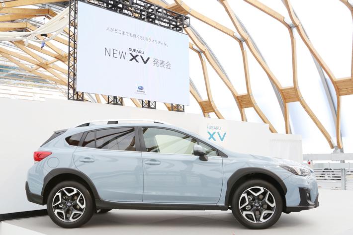 スバル 新型XV 発表会にて