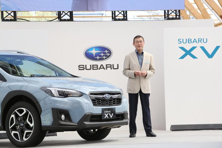 スバル 新型XV 発表会にて、株式会社SUBARU 代表取締役社長 吉永泰之氏