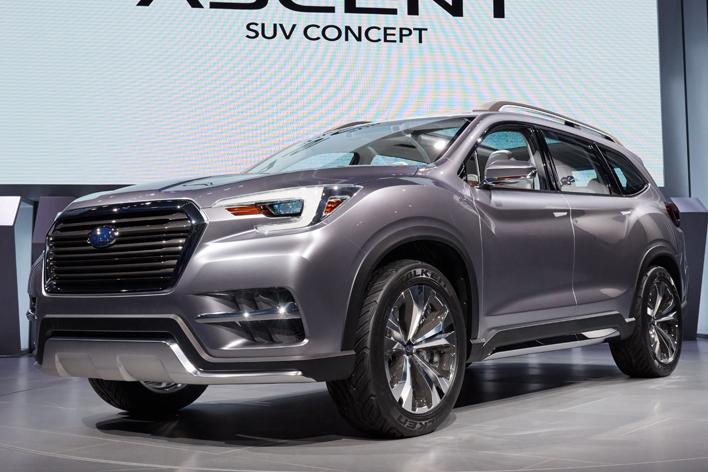 ハマーサイズ?スバル最大の3列シート新型SUV「ASCENT(アセント)」発表!【NYショー2017】