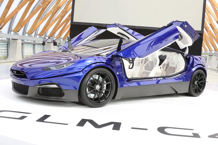 """目指すは""""フェラーリ""""日本初公開のEVスーパーカー「GLM G4」2019年に発売!価格は4千万円"""