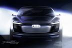 アウディ、発表間近の電気自動車4ドアクーペSUVのスケッチを公開【上海ショー2017】