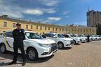 三菱自、ウクライナ警察に635台のアウトランダーPHEVを納車