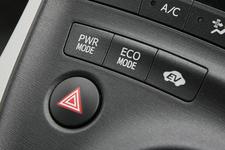 プリウスのパワーモード/エコモード/EVモードボタン