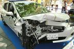 東京のど真ん中に新車のインプレッサやヴェルファイアなどの事故車がズラリ… いったい何が!?