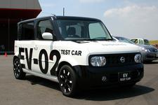 日産 EV-02 キューブをベースにした電気自動車試験車両