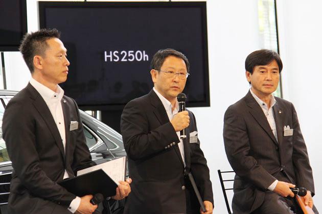 レクサス HS250hについて語る豊田章男社長