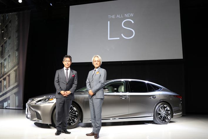 右:レクサスインターナショナル プレジデント 澤良宏氏/左:レクサス LS チーフエンジニア 旭利夫氏