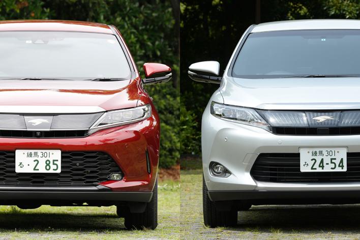 左:新型ハリアー/右:従来型ハリアー