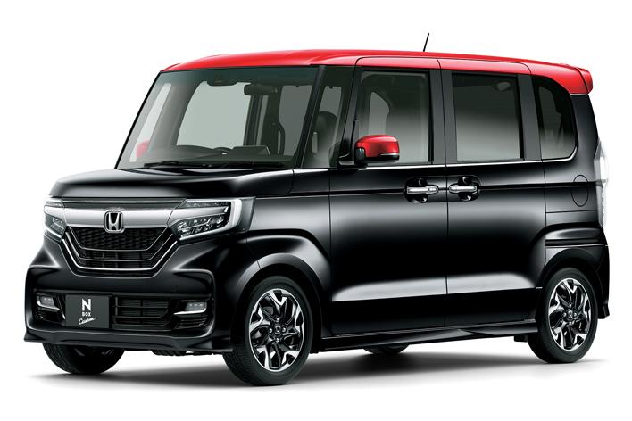 ホンダ 新型N-BOXカスタム ミラノレッド×ブラック
