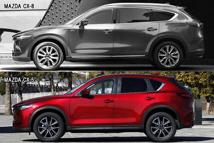マツダ 新型CX-8 vs 新型CX-5 エクステリアデザイン比較
