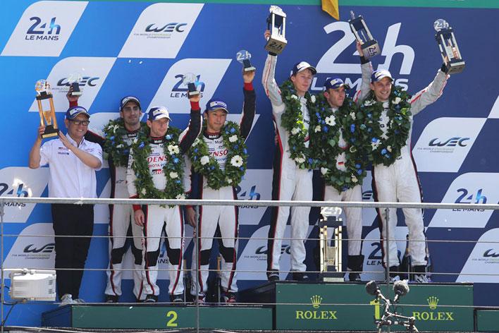 ル・マン24時間レース(2017)LMP1クラスの優勝はポルシェ、2位にはトヨタ