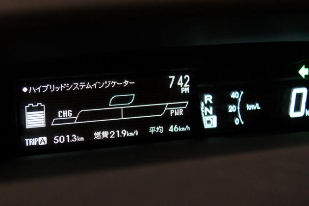 総走行距離501.3km/燃費21.9km/