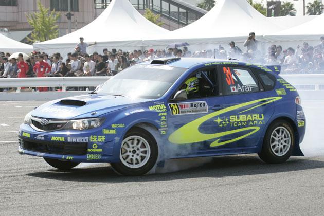 モータースポーツジャパン2008より、新井選手のスバル インプレッサ