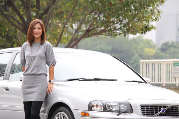 ボルボ S80と秋山智絵さん