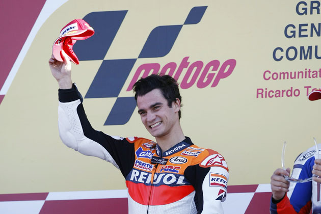 MotoGP ダニ・ペドロサ選手の表彰台シーン