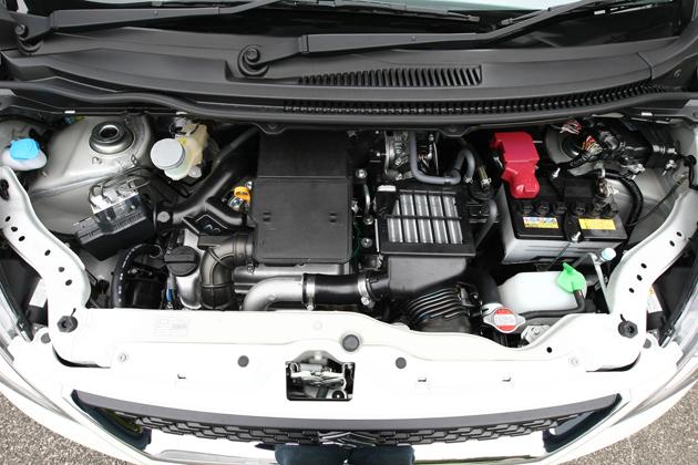 水冷4サイクル直列3気筒DOHC12バルブ インタークーラーターボ