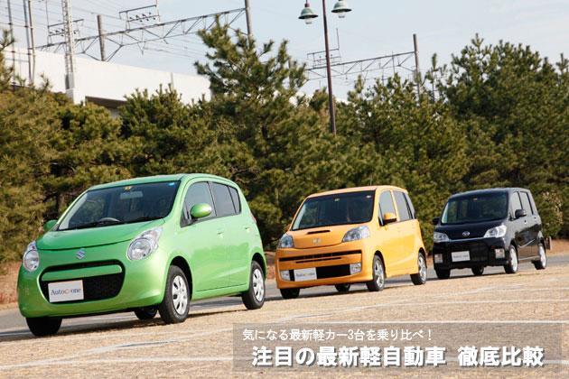 注目の最新軽自動車 徹底比較