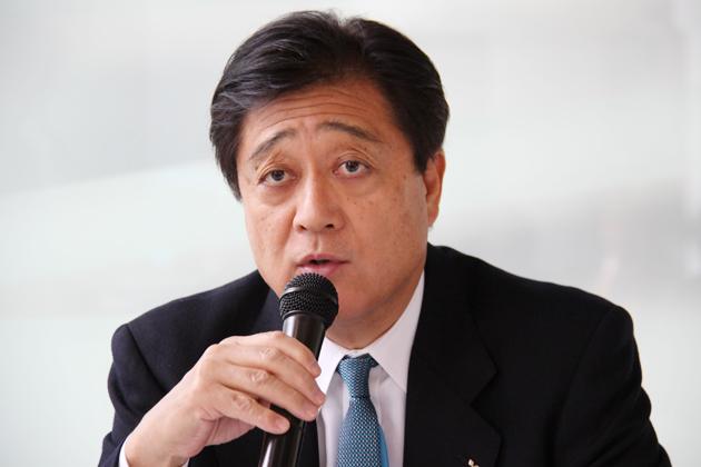 新型RVR発表会にて益子社長