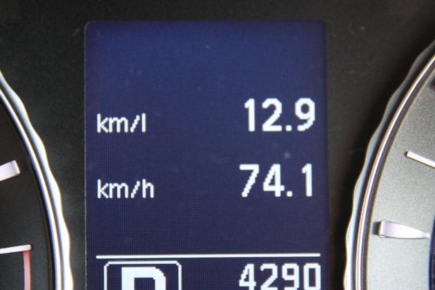 0-100km燃費は12.9km/Lでした