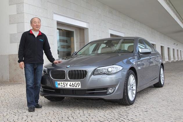 BMW 新型5シリーズと日下部氏