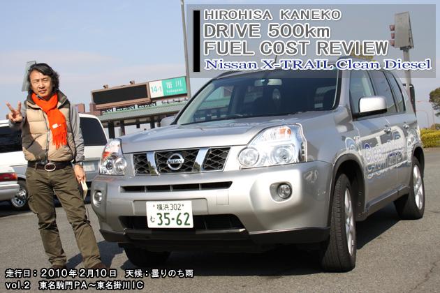 日産 エクストレイル 20GT 500km実燃費レビュー【100-200km】