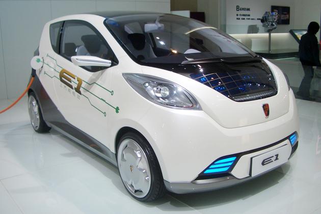 上汽集団の電気自動車「E1」