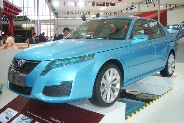 北汽集団の電気自動車「C71 EV」。バッテリー交換型