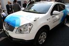 世界初のバッテリー交換式EVタクシー(日産デュアリス)