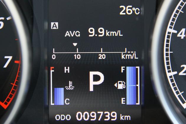 一般道編の燃費は「9.9km/L」でした