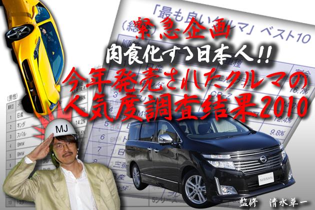 緊急企画!肉食化する日本人!「今年発売されたクルマの人気度調査結果2010」