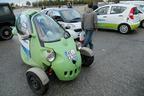 ドイツの電気自動車展示会での試乗コーナー。欧州には「超小型モビリティ」っぽい電気自動車が様々ある