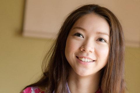 この笑顔が周りにいる人たちを癒してくれる。まさに女神の微笑み。