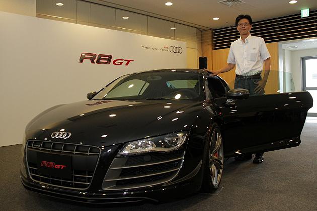 アウディ R8 GT 発表会速報